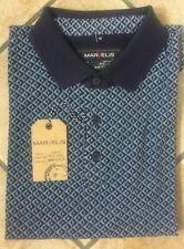 MARVELiS Herren Poloshirt Kurzarm Blau gemustert Gr. M, L, XL Baumwolle
