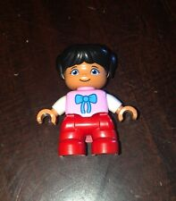 Lego Ville DUPLO 10617 Replacement Figure Girl Bow Shirt My First Farm