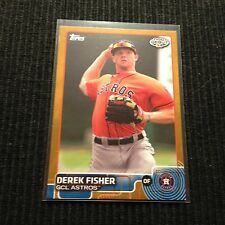 2015 TOPPS PRO DEBUT #161 DEREK FISHER *GOLD #/50*  GCL ASTROS
