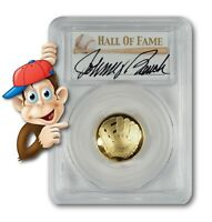 2014-W $5 Gold Baseball Coin - PCGS PR70 - Hand-Signed By Johnny Bench