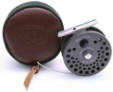 RARE Vintage Orvis CFO II Hardy Fly Fishing Reel W. Suede Leather Case Excellent