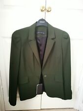 Zara forest green shoulder Detail Blazer Jacket Size S new with tag