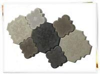 10x Schalungsformen Gießformen Beton Trittsteine Gehwegplatten Bruchstein 30x30