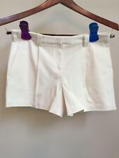 NWT LANDS END Ivory Creme Cotton Stretch Pleated Chino Shorts Hiking Outdoors 4