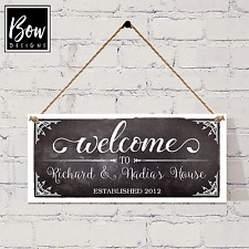 NEW HOME HOUSE WARMING PERSONALISED WELCOME FAMILY SURNAME SIGN - 204