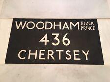 "London Linen Bus Blind 24Nov72 36""- 436 Woodham Black Prince Chertsey"