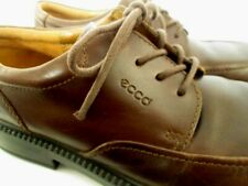 ECCO Light 7 / 7.5  (EU 38) Brown Leather Lace-up Career Comfort Oxfords Shoes