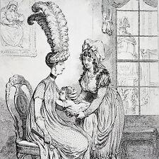 CARICATURE - 1847 - GILLRAY - THE FASHIONABLE MAMMA