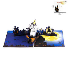 3D Pop Up Card Halloween Pumpkin Ghost Trick Or Treat Party Hallowmas Gift Cards