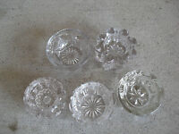 Lot of 5 Different Vintage Cut or Pressed Glass Crystal Open Salts