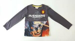 Boys Avengers Assemble Long Sleeve T-shirt Size 6 Years Graphic Polycotton BNWT