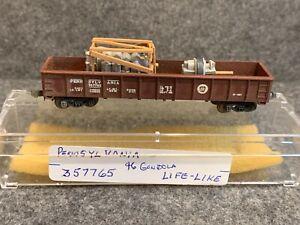 N Scale Life-Like 46' Pennsylvania Gondola w/ Loads 357765 PRR Crate Transformer