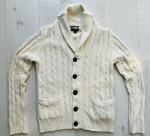 GANT Herren Strickjacke Cardigan Pullover Gr. M Beige Braun NP 229,00€