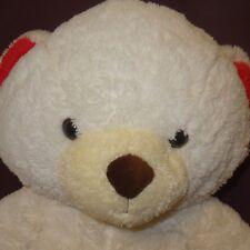 "Teddy Bear White Pink Plush 21"" 2012 Stuffed Animal Adventure"