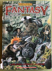 Warhammer, Fantasy Role Play 1sr Edition. Hardback 1986. Games Workshop