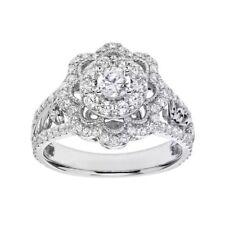 Simply Vera Vera Wang Diamond Flower Engagement Ring 14k White Gold 1 Carat T.W.