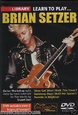 Lick Library Learn To Play Brian Setzer Gatos lección tutor canciones de guitarra Dvd