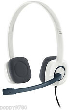Logitech H150 Stereo Headset Cloud w/ Microphone White Computer Skype 981-000350