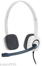 Logitech H150 Stereo Headset Cloud w/ Microphone White Computer Skype 981-000350