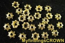 500 pcs Antiqued gold tiny bead caps 5mm FC514