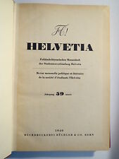 Schweiz - Studentenverbindung Helvetia - 1940 - Jahrgang 59 / Studentika
