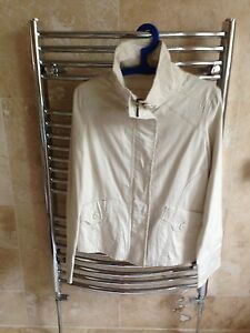 REPUBLIC Cream Swing Zip Jacket 12 14 Short Smart Light Casual