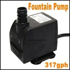 317 GPH Submersible Pump - Fountain * Pond * Waterfall * Hydroponics * Waterbowl