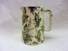Lilly of the valley half pint jug pitcher jug by Heron Cross Pottery
