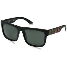 Spy Optic Discord Non-Toxic Matte Black Frame Happy Grey Green Lens Sunglasses