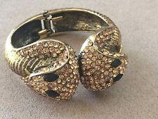 Crystal Cobra Snake Cuff Bracelet