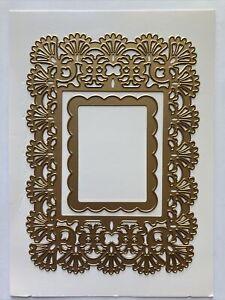 "Anna Griffin 5 x 7"" Card Frame Fan Flourish Embossing Stencil Cutting Dies"
