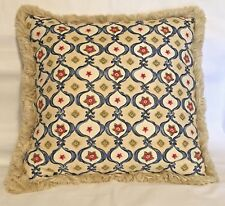 Fresh Farm French Country Cottage Red Blue Ivory Green Fringe Floral