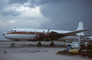 35mm Aircraft Slide N4882C Douglas DC-7 Tucson International 1979
