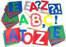 Major Brushes Large Alphabet Stencils Upper Case Set of 27