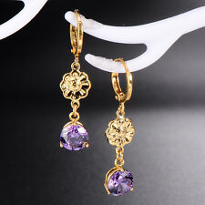Fashion Jewelry Earrings Hoop 18K Gold Filled Dangle Wholesale Vintage Retro