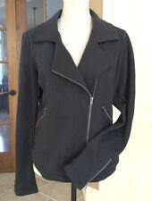 SILENCE & NOISE Jacket Cotton Moto Jacket in Black Dark Gray (MK01) LRG ~ LkNu