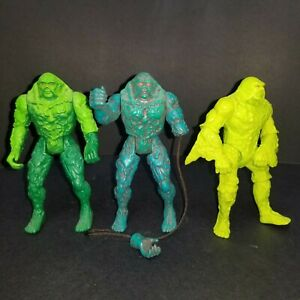SWAMP THING Action Figure Lot of 3 1990 Kenner DC Comics