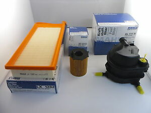 Ford Fiesta 1.4 TDCI Diesel Service Kit Oil Air Fuel Filter 2002 to 2009 MAHLE