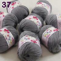 Sale lot 8 Skeins x50g Cashmere Silk Wool Children hand knitting Crochet Yarn 37