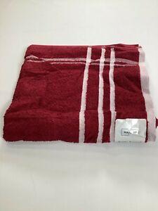 MainStays Merlot Striped Cotton Rich Bath Towel 27x52 NEW! NWT