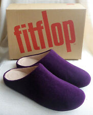 Fitflop Chrissie Felt Berry Slip On Mule Ladies Clog Slippers iQushion Box Sz 6
