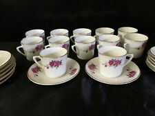 Set of 12  - 2 oz. cups & saucers - Demitasse