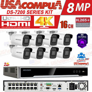 Hikvision IP Security System kit 2MP 16 channel IP   H.265 WDR 2TB PURPLE