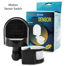 PIR Motion Movement Sensor Detector Switch For Security Lighting 180° Outdoor UK