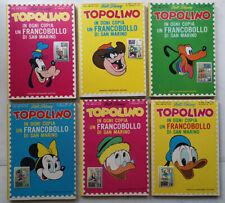 TOPOLINO LIBRETTO 804/809 SAN MARINO serie completa (6 Fumetti + 6 Francobolli)