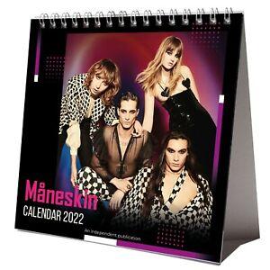 Maneskin 2022 Desktop Calendar NEW Desk 12 Months Damiano David Pretty Man