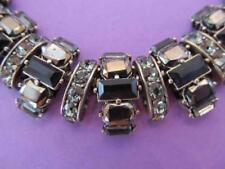 Unique Black Rhinestone Necklace Snake Chain Statement Retro Steampunk Goth