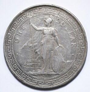 1900, UK, 1 Dollar, British Trade Dollar, Silver, gF, KM# T5, Lot [1606]