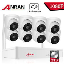 ANRAN Outdoor Wireless Security Camera System Audio 1080P HD NVR CCTV WiFi 1/2TB