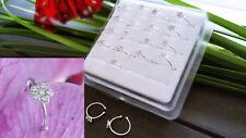 925 Silber Nasenpiercing Nasenstecker Nasenring  Piercing Ohr Ring Septum Fake